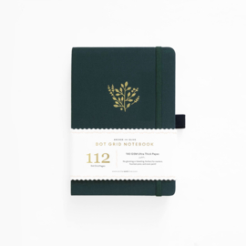 Archer & Olive  Dotted Notebook B6 - Deep Green