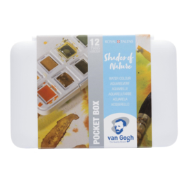 Van Gogh aquarelverf pocketbox 12 napjes - Shades of Nature