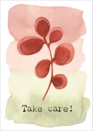 Kaart 'Take care'