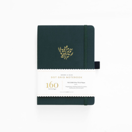 Archer & Olive Dotted Notebook B5 - Deep Green