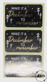 Wensetiket rechthoek 35x58mm - Make it a December - per 10