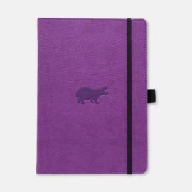 Dingbats* Wildlife A5+ Dotted Notitieboek - Purple Hippo