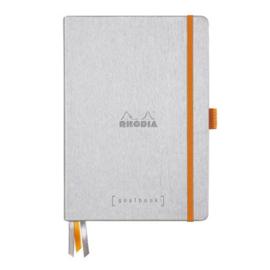 Rhodia | Rhodiarama Hardcover Goalbook A5 | Bullet Journal Silver
