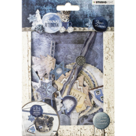 Studio Light Die Cut Paper Set - Snowy Afternoon nr.656
