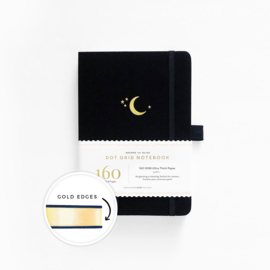 Archer & Olive Dotted Notebook A5 - Cresent Moon Gilded