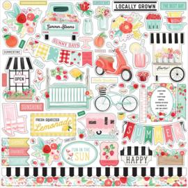 Carta Bella Summer market 12 x 12 Element Sticker