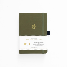 Archer & Olive Dotted Notebook A5 - Grean Leaf
