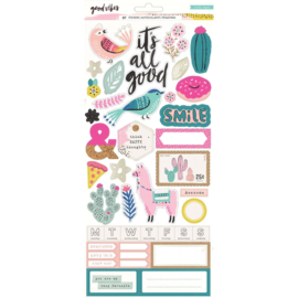 Crate paper Good Vibes sticker Gold foil