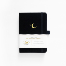 Archer & Olive Dotted Notebook A5 - Crescent Moon