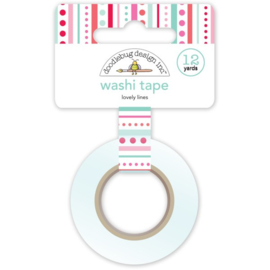 Doodlebug Design - Love Notes Collection - Washi Tape - Lovely Lines