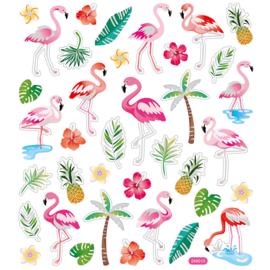 Stickervel - Flamingo
