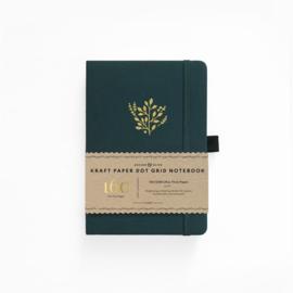 Archer & Olive  Dotted Notebook A5 Kraft Paper -  Deep Green