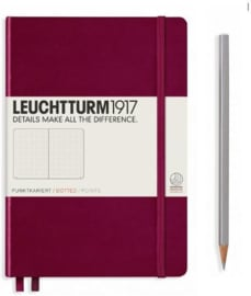 Leuchtturm1917 Notitieboek Medium Port Red Dotted