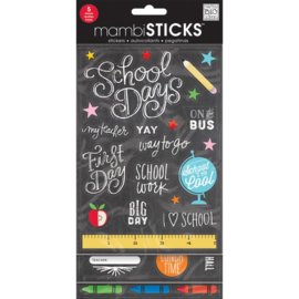 Me & My Big Ideas Glitter Stickers Value Pack School Today - Chalk