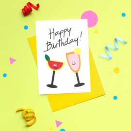 Wenskaart | Happy Birthday Cocktails
