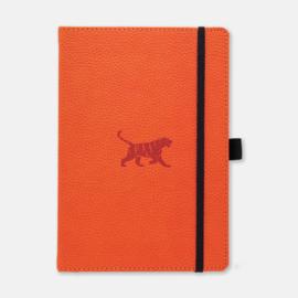 Dingbats* Wildlife A5+ Dotted Notitieboek - Orange Tiger