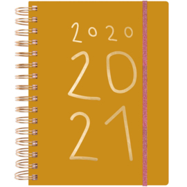 Paper Poetry - Planner 2020-2021 - Nature Matters -  Mosterdgeel