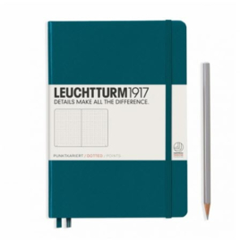 Leuchtturm1917 Dotted Notitieboek A5 - Pacific Green