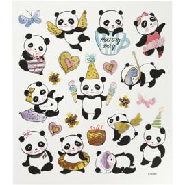 Stickervel - Panda's