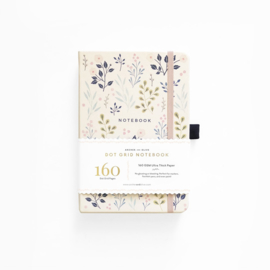 Archer & Olive  Dotted Notebook A5 - Pink Flowers