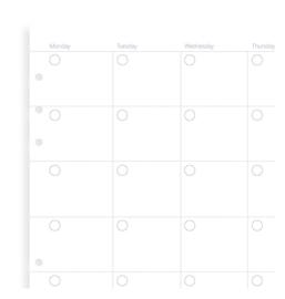 Filofax Clipbook & Organizer (na)vulling A5 - Ongedateerd Maandplanner