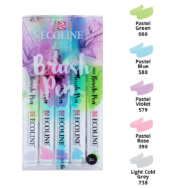 Ecoline Brushpen set 5 - Pastel