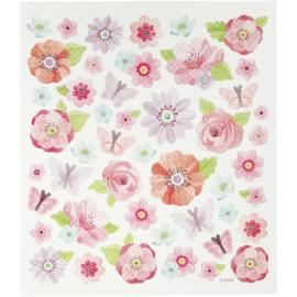 Stickervel - Voorjaarsbloemen