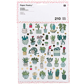 Paper Poetry Stickers - Hygge Plant - 6 vellen