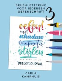 Brushlettering voor iedereen - oefenschrift 3 Carla Kamphuis