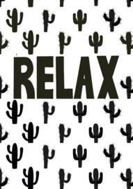 Postkaart  Relax Cactus