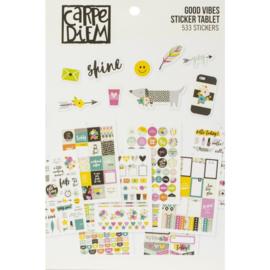 Carpe Diem A5 Planner Sticker Tablet - Good Vibes