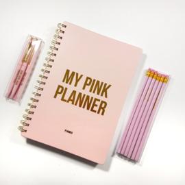 Set Deal - Pink Planner met Pennen en Poltlodenset