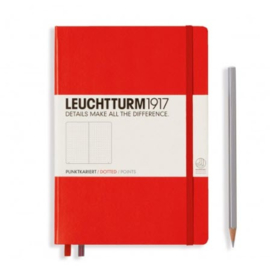 Leuchtturm1917 Dotted Notitieboek A5 -  Red