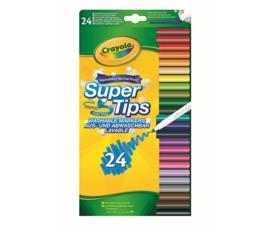 Crayola - Viltstiften met Superpunt 24 stuks