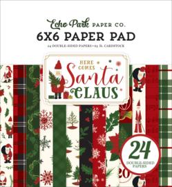 Echo Park Here Comes Santa Claus 6x6 Paper Pad