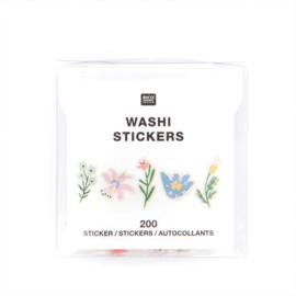 Paper Poetry - Washi Sticker -  Bloemen  - rol à 200 st