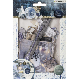 Studio Light Die Cut Paper Set - Snowy Afternoon nr.655