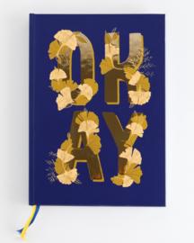 Bullet journal Richness Ginko/Text - Gouden Lijntjes