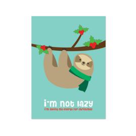 Kerstkaart - Sloth Christmas