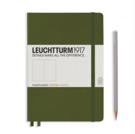 Leuchtturm1917 Dotted Notitieboek A5 - Army Green