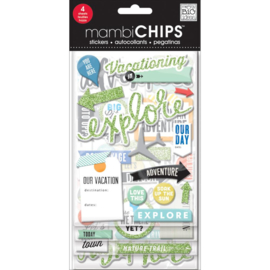 Me & My Big Ideas Chipboard Value Pack - Travel