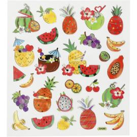 Stickervel - Exotisch fruit