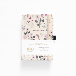 Archer & Olive Dotted Notebook A5 - Painted Flowers