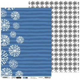 Studio Light Basis A4 Achtergrondpapier Winter Joys nr 305 BASISWJ305