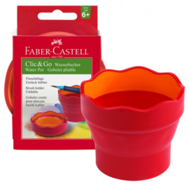 Faber Castell Clic & Go Watercup - Red