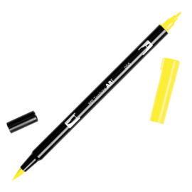 Tombow ABT Dual Brush Pen 055 Process Yellow