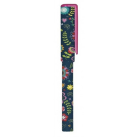 Moses balpen Flower and Dots blauw 14 cm