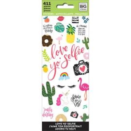 Me & My Big Ideas Stickers - Love Yo Selfie