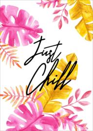 Kaart 'Just chill'