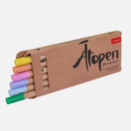 Dingbats* Ātopen Dual Tip Fineliner/Brush Pens - Pastel Set